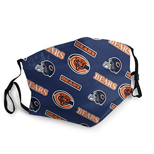 Face Mask for Men Women Windproof Dustproof and Anti-Pollution Face Cover Reusable NFL Chicago Bears face cover